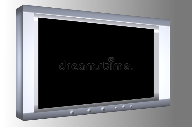 Plasma TV photo stock