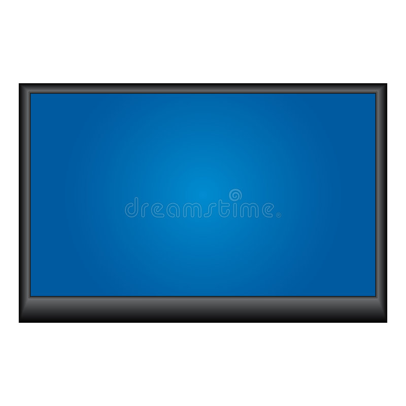 Plasma tv stock illustration