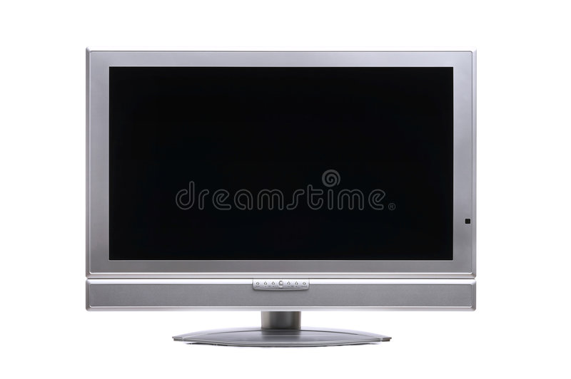 Plasma-TV. Flatscreen TV clipping path included stock image
