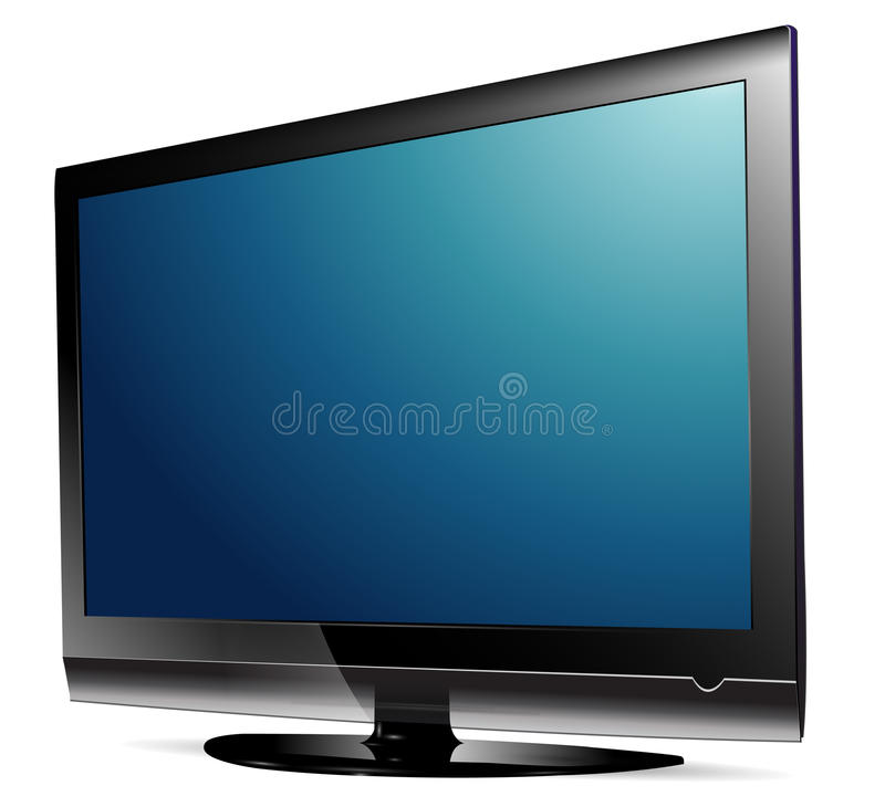 Plasma TV del Lcd ilustración del vector