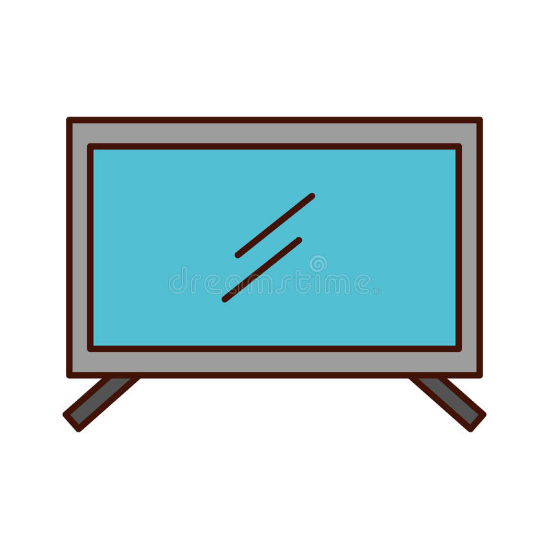 plasma tv isolated icon stock illustration