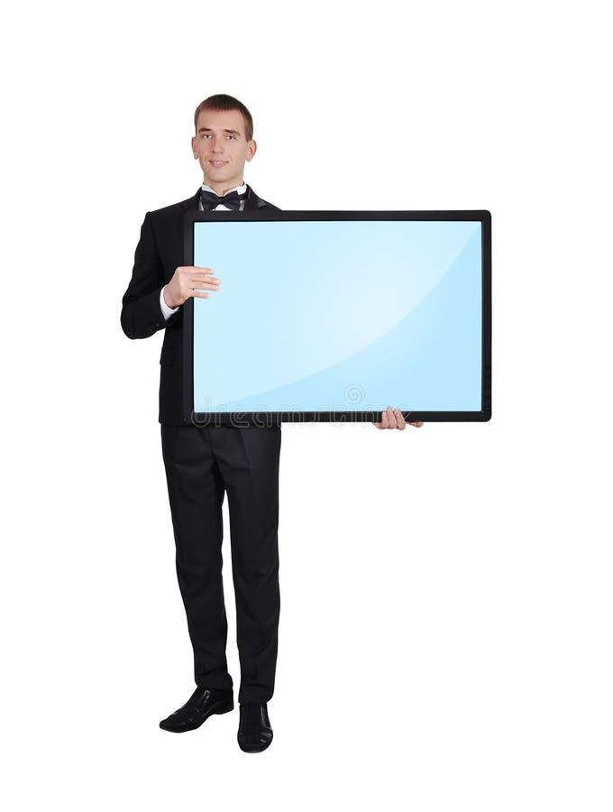 Plasma Vazio Do Homem De Negócios Imagem de Stock
