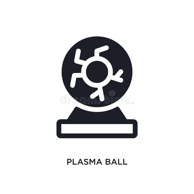 plasmabal geïsoleerd pictogram eenvoudige elementenillustratie van de pictogrammen van het wetenschapsconcept van het het embleem royalty-vrije illustratie