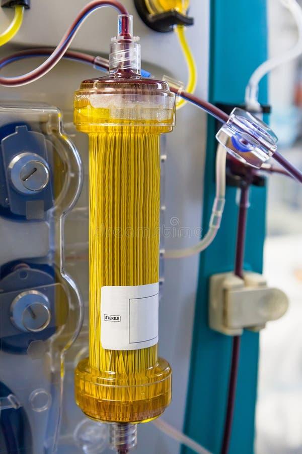 Plasmafiltration (de procedure van de bloedreiniging) royalty-vrije stock fotografie