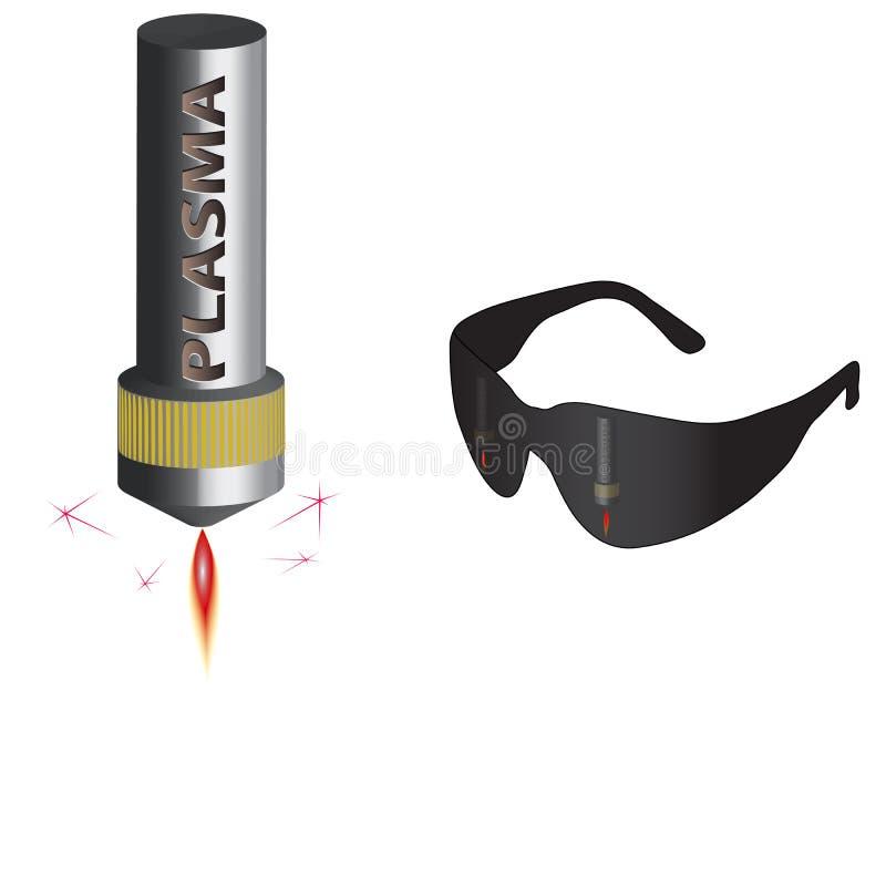 Plasmaschneidengefahr für Augen lizenzfreies stockbild