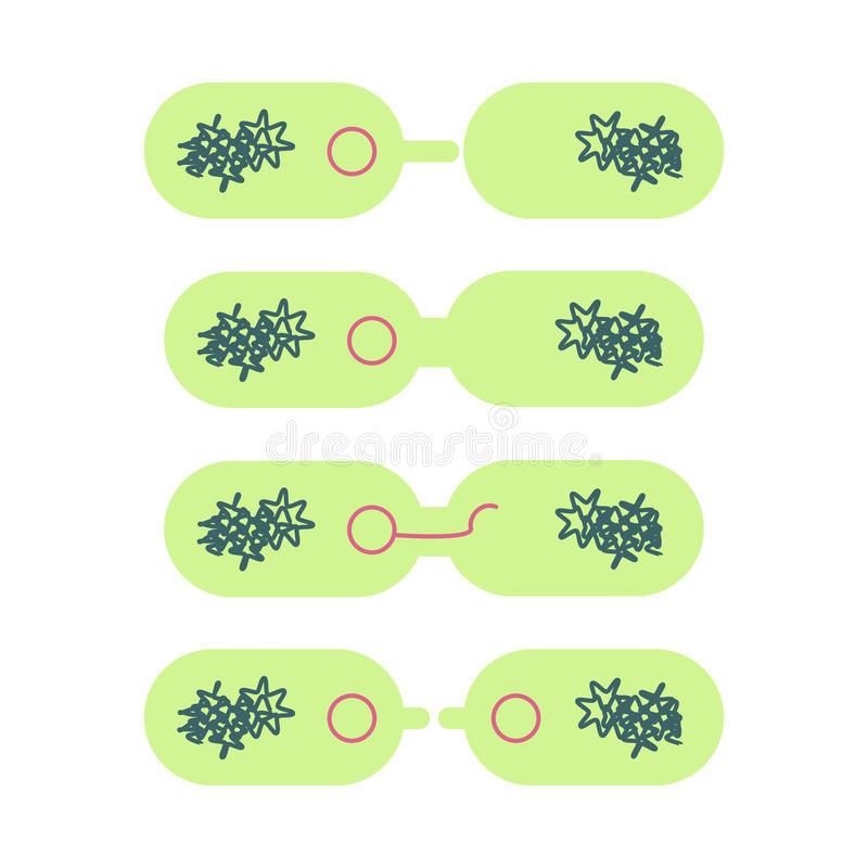 Plasmid in bacterial cell. royalty free illustration