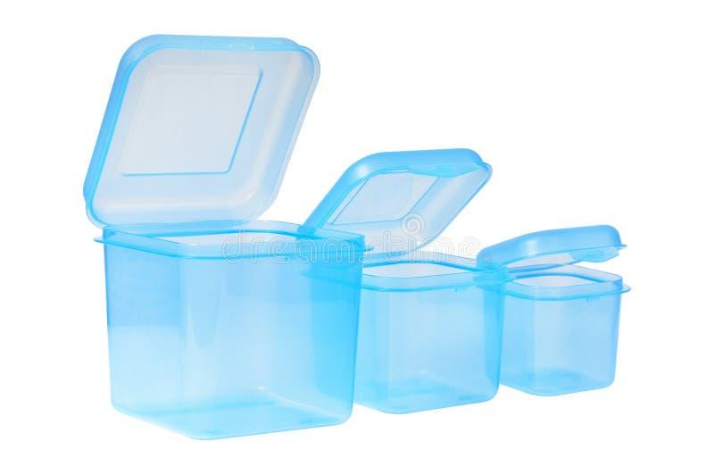 Plast- behållare för mat arkivbild
