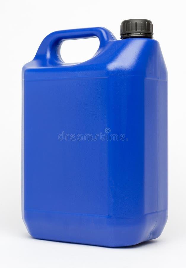 plast-bensindunk för HDPE 5L royaltyfria foton