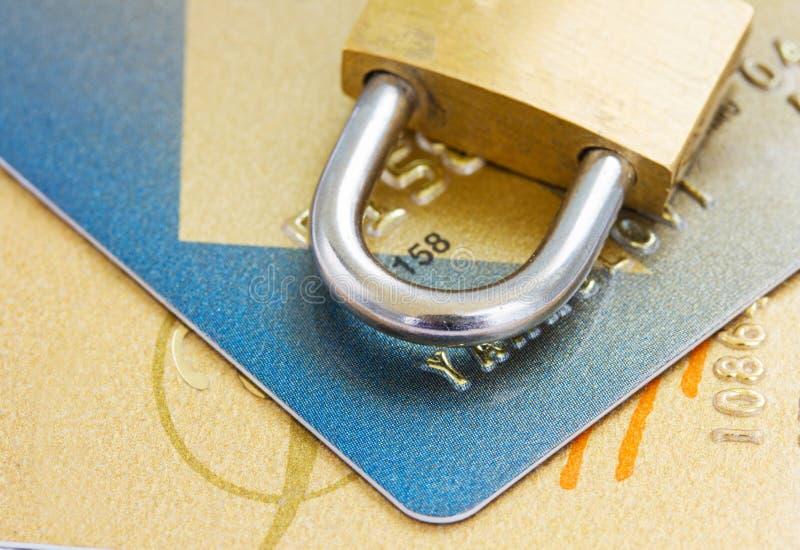Plast- kortsäkerhetsbegrepp royaltyfria foton