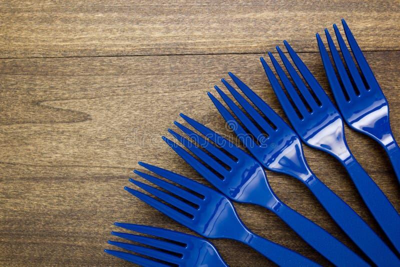 Plast- disponibel gaffel arkivbild