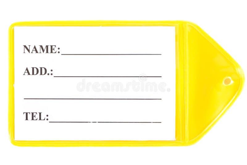 Plast- etikett arkivbild