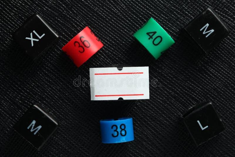 Plast- etikettsplats för format arkivfoto