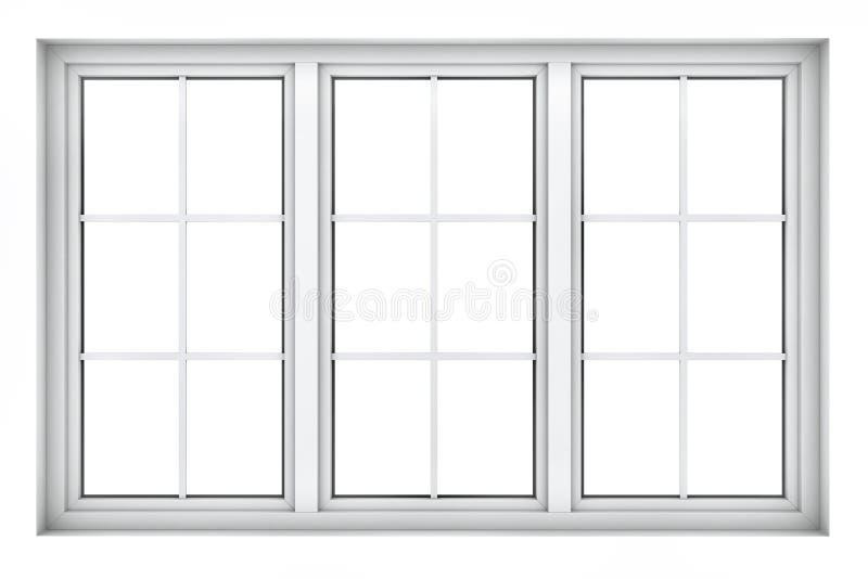 Plast- fönsterram vektor illustrationer