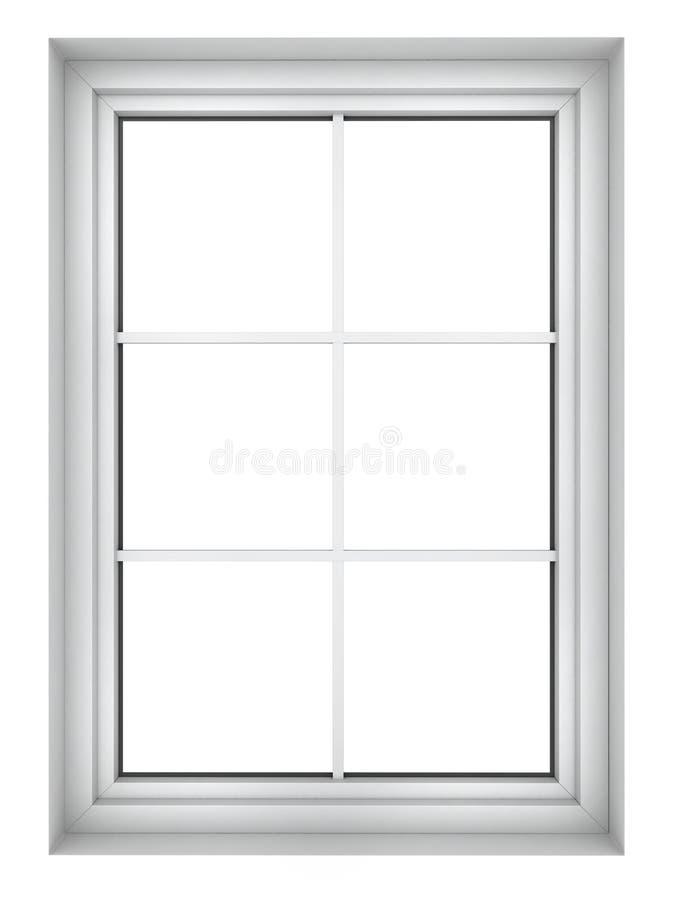 Plast- fönsterram stock illustrationer