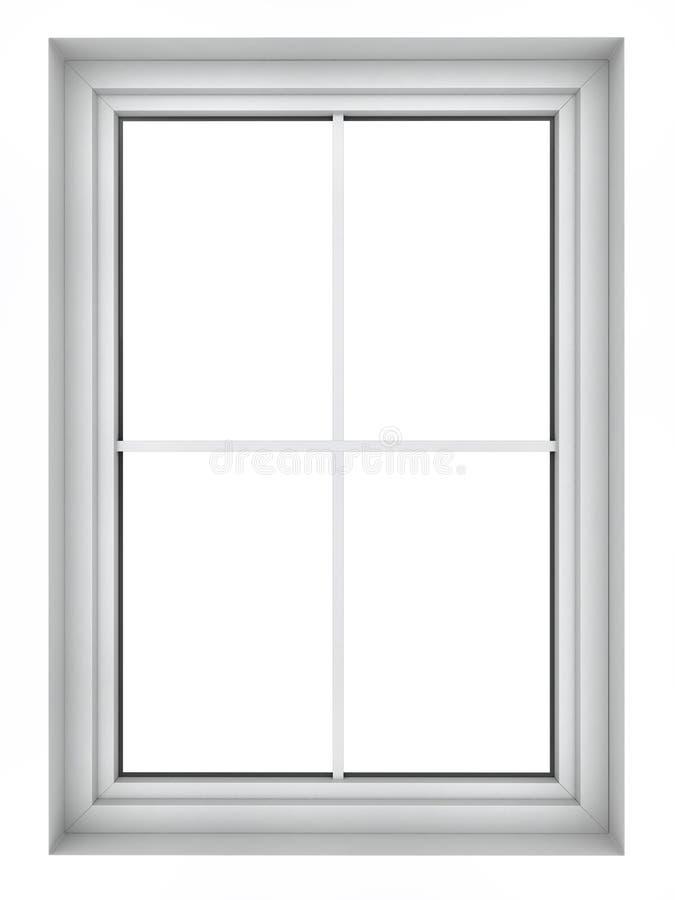 Plast- fönsterram royaltyfri illustrationer