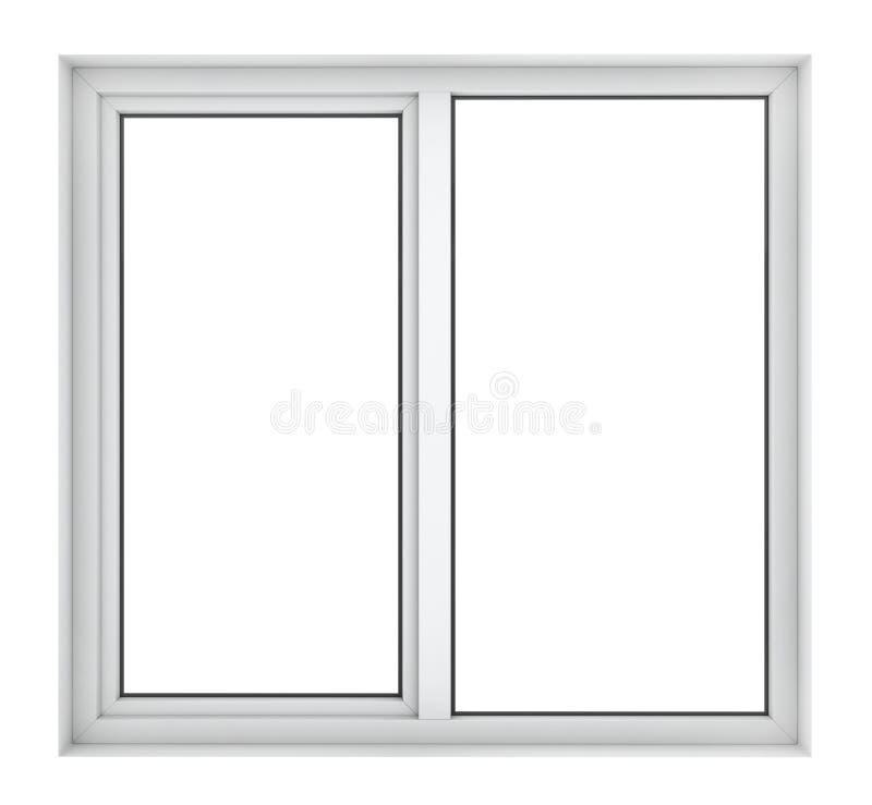 Plast- fönsterram royaltyfri bild