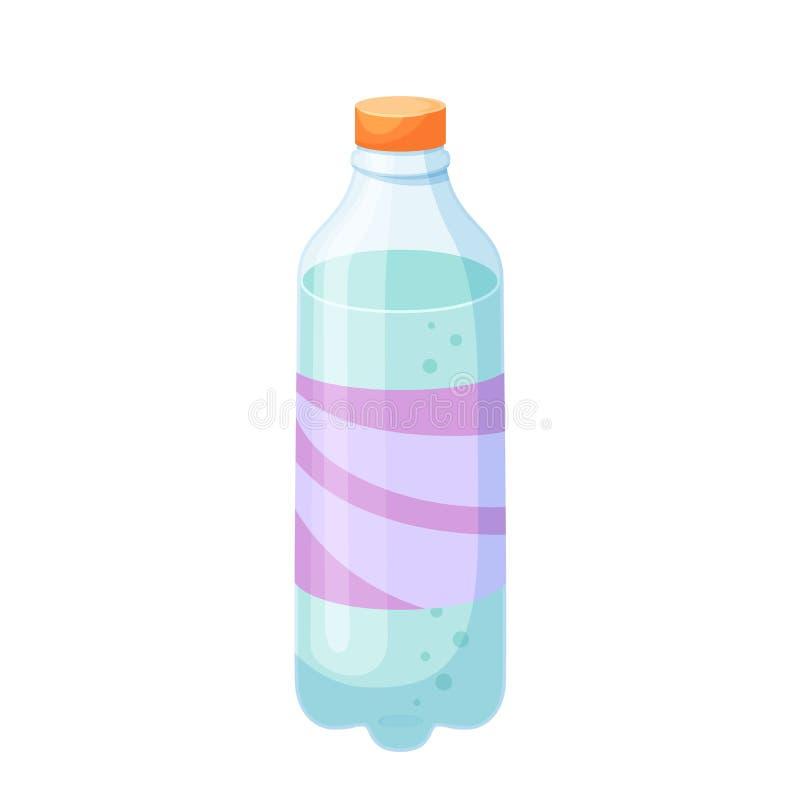 Plast- flaska för drinkar vektor illustrationer