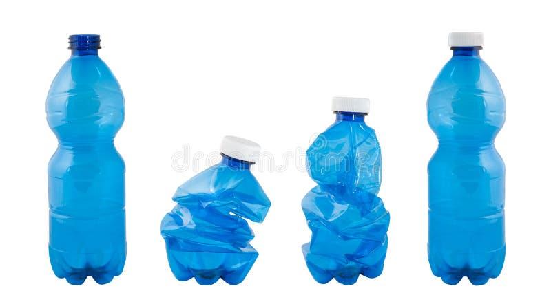 Plast-flaskor royaltyfria bilder