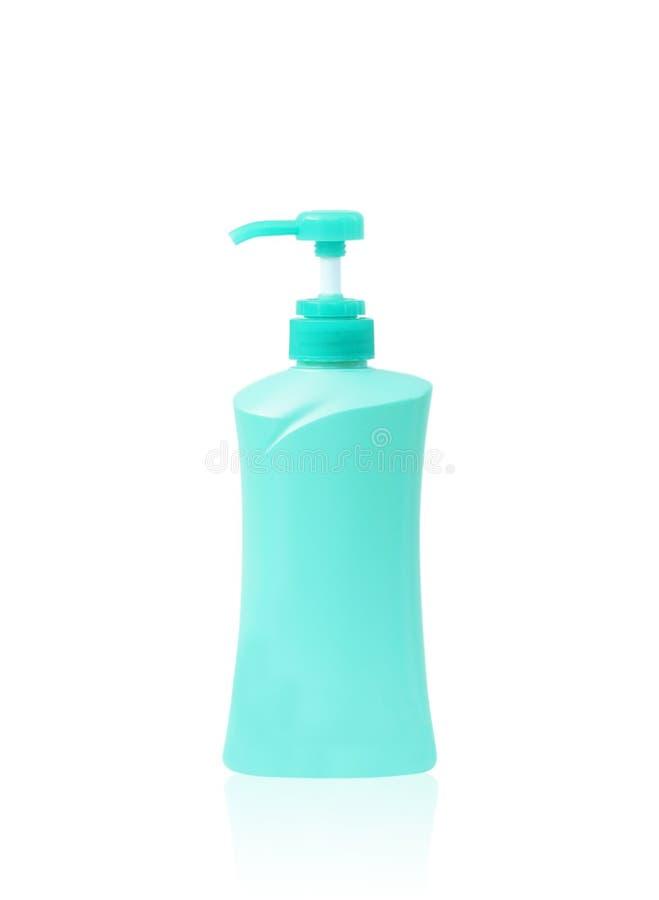 Plast- flaskpump av Gel, vätsketvål, lotion, kräm, schampo royaltyfria foton