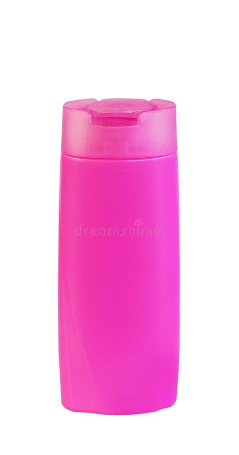 Plast- flaskpump av Gel, vätsketvål, lotion, kräm, schampo fotografering för bildbyråer