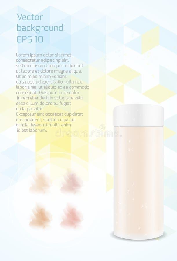 Plast- genomskinligt rör Förpacka för skönhetsmedel Fundamenttextur royaltyfri illustrationer