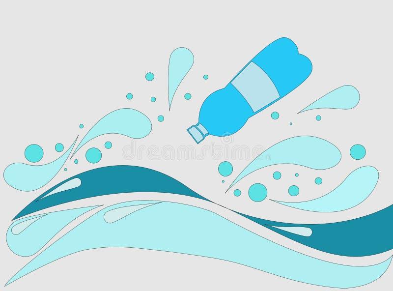 Plast- i havet royaltyfri fotografi