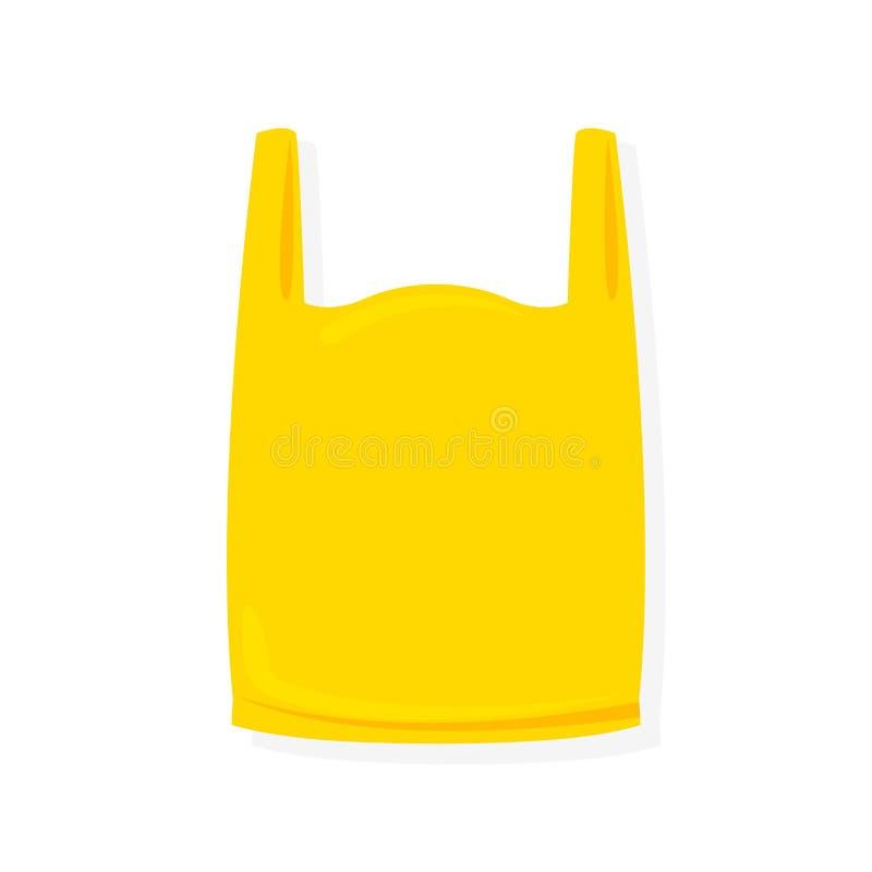 Plast- illustration f?r gul p?se p? vit bakgrund vektor illustrationer