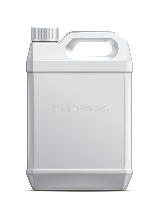 Plast- kanister royaltyfri fotografi