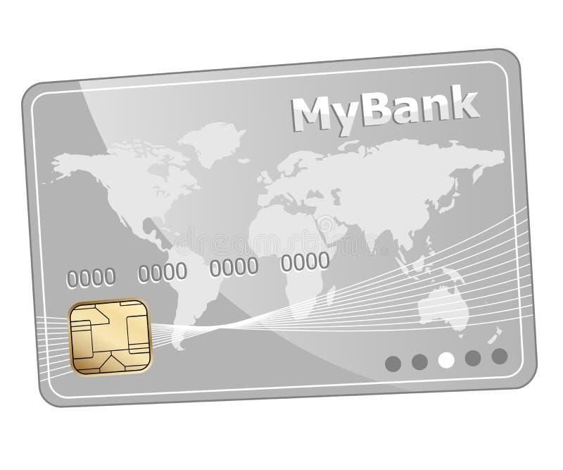 Plast- kontokortsymbol för kreditering royaltyfri illustrationer