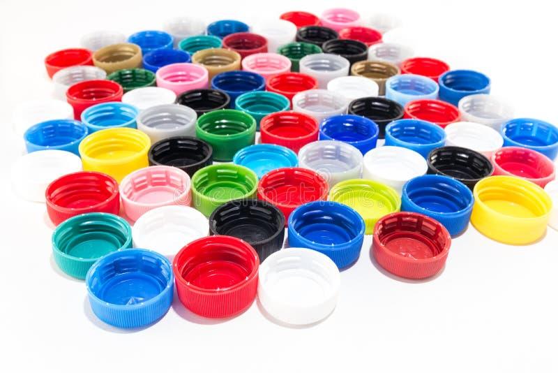 Plast- lock från älsklings- flaskor arkivfoto