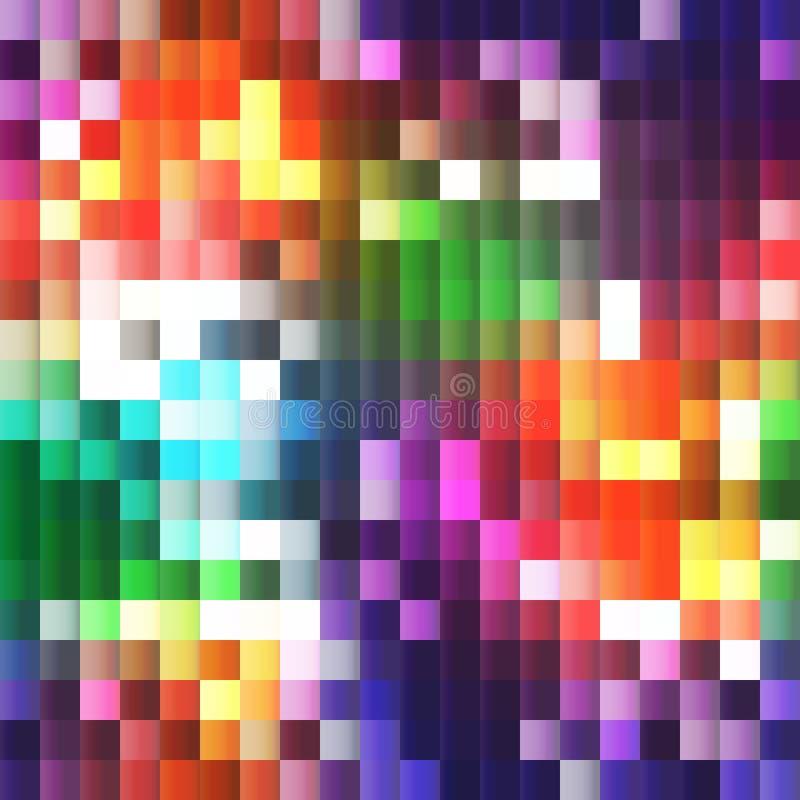 plast- mosaik 3D med ljusa färger för regnbåge royaltyfri illustrationer