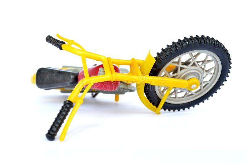 Plast- motorcykel arkivfoto