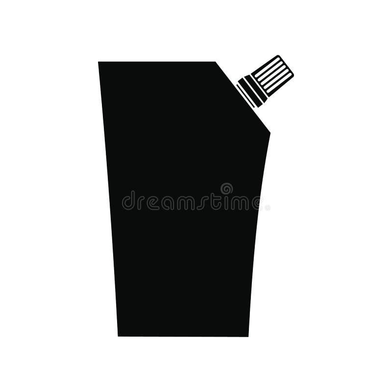 Plast- påse med batchersymbolen stock illustrationer