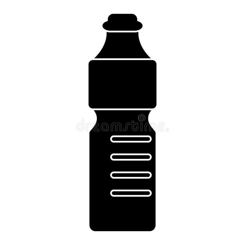 Plast- pictogram för återvinning för flaskvatten mineralisk royaltyfri illustrationer