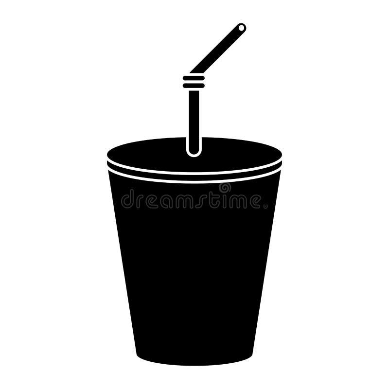 plast- pictogram för koppdrinkcola vektor illustrationer