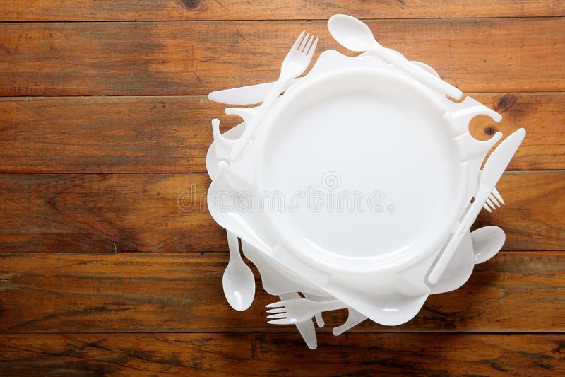 Plast-plattor royaltyfri bild