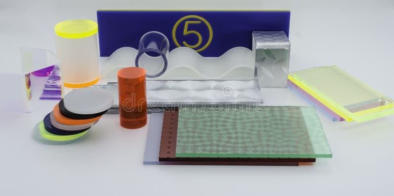 Plast- prövkopiadiagram för akryl royaltyfri fotografi