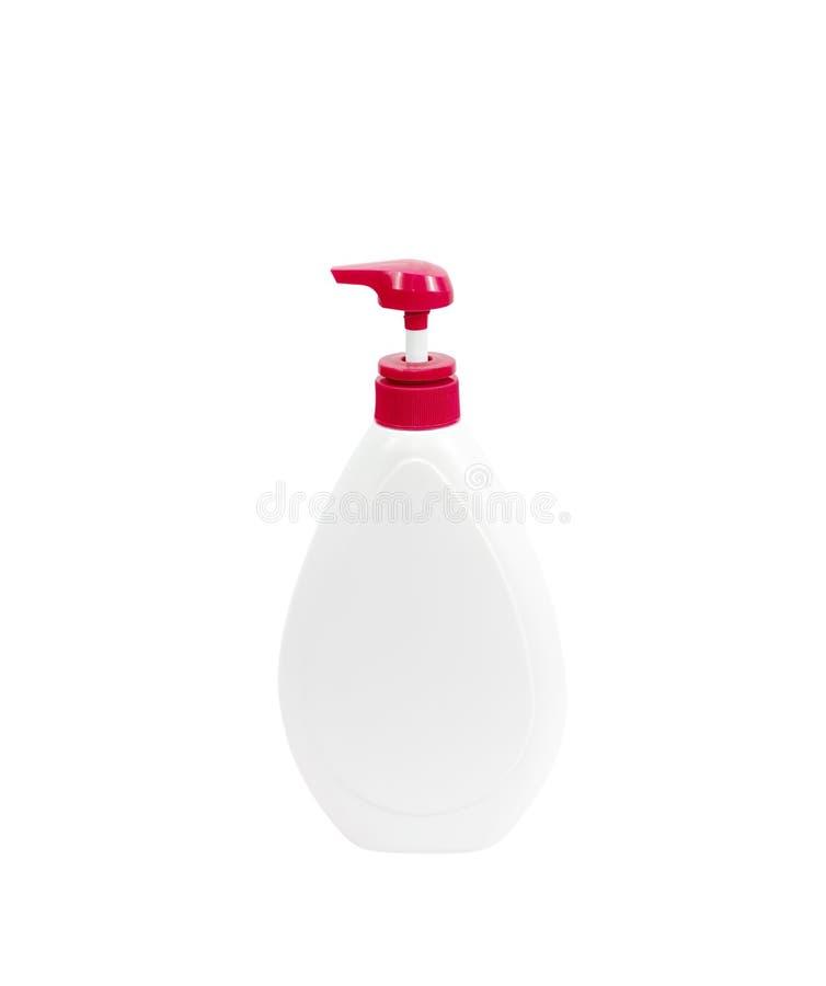 Plast- pumpflaska royaltyfri fotografi