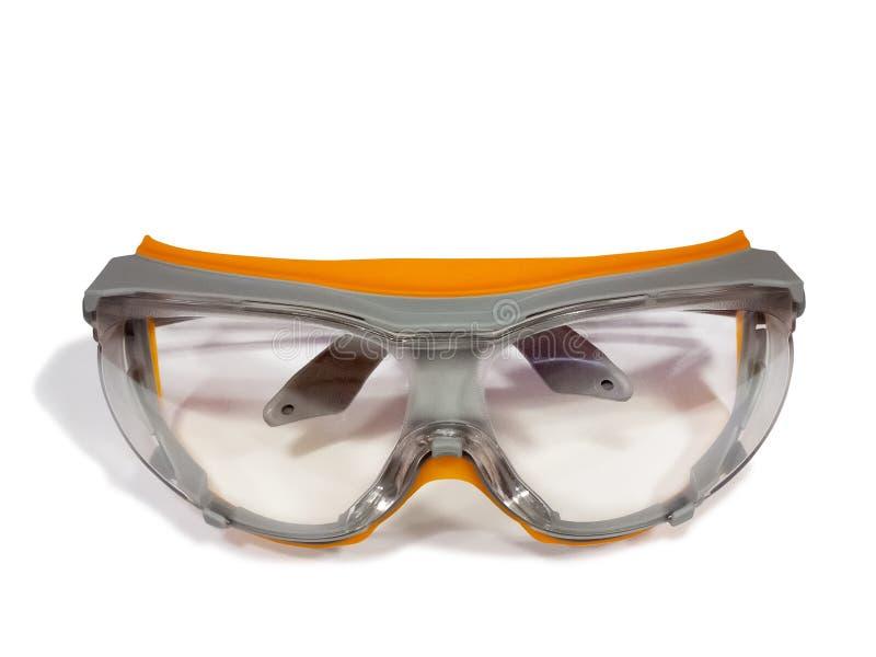 Plast- säkerhetsskyddsglasögon arkivbild