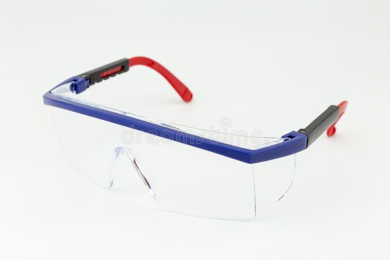 Plast- säkerhetsskyddsglasögon arkivbilder