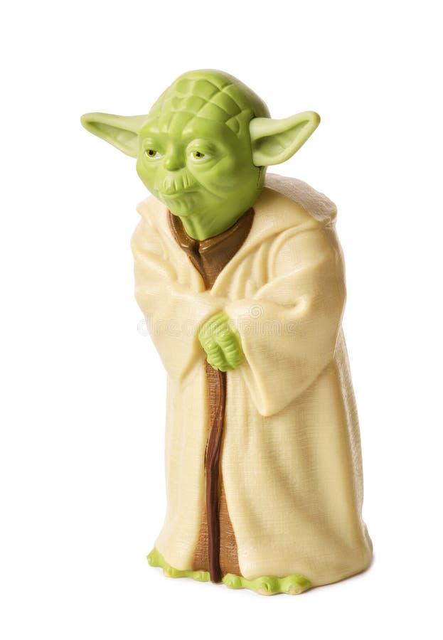 Plast- statyett av ledar- Yoda royaltyfria bilder