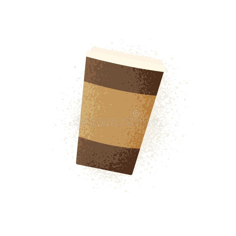 Plast- symbol för kaffekopp royaltyfri illustrationer