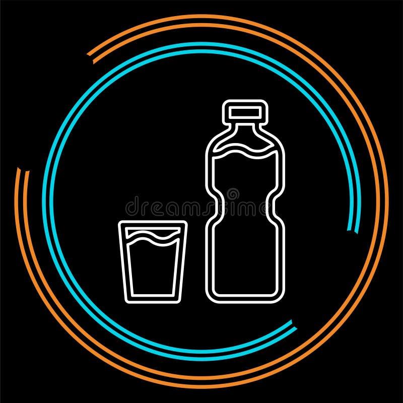 Plast- vattenflaska för vektor, drinkbehållare vektor illustrationer