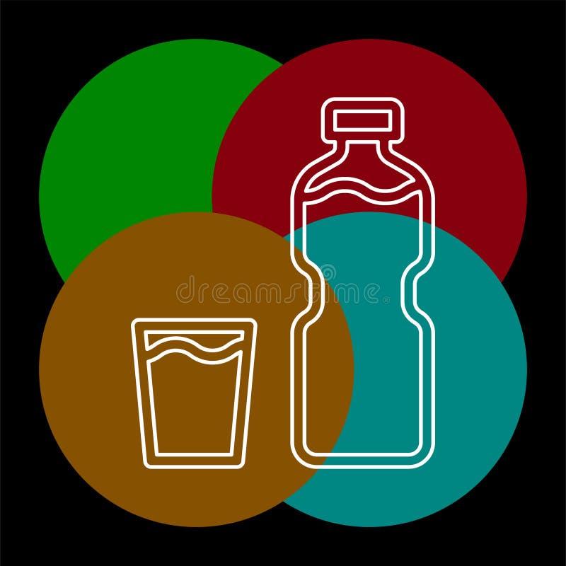 Plast- vattenflaska f?r vektor, drinkbeh?llare royaltyfri illustrationer