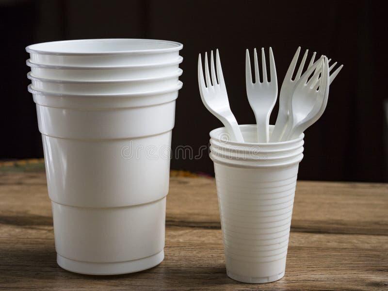 Plast- ware royaltyfri foto