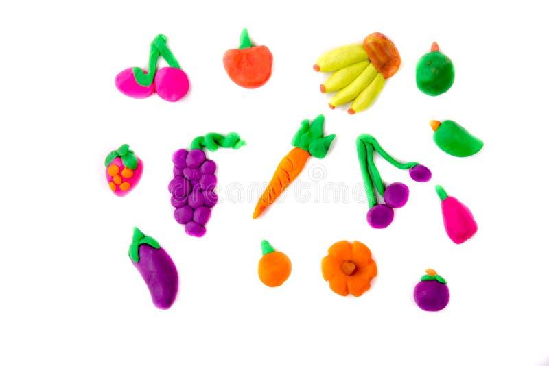 Plastelin modelarskich owoc winogron mangostanu bani pomarańczowy mang zdjęcia stock