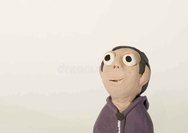 Plastelina charakter Chłopiec z hoodie fotografia royalty free