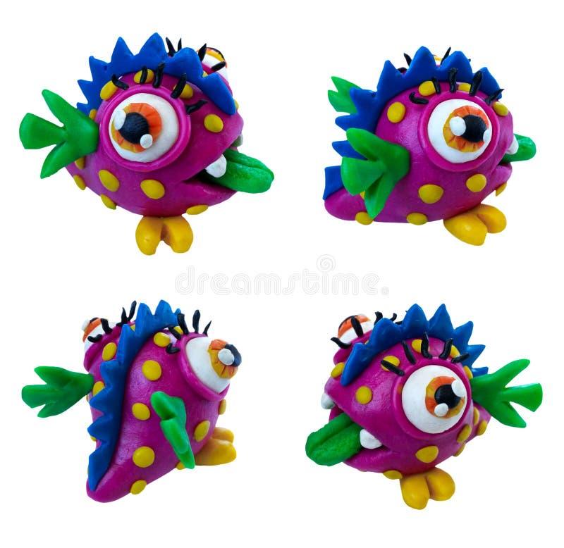 Plastelina potwór zdjęcie royalty free