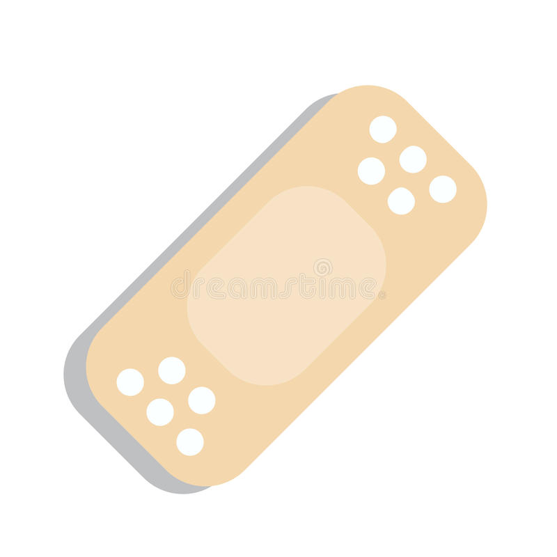 Plaster Or Band Aid Icon Medical Patch Symbol Stock Vector