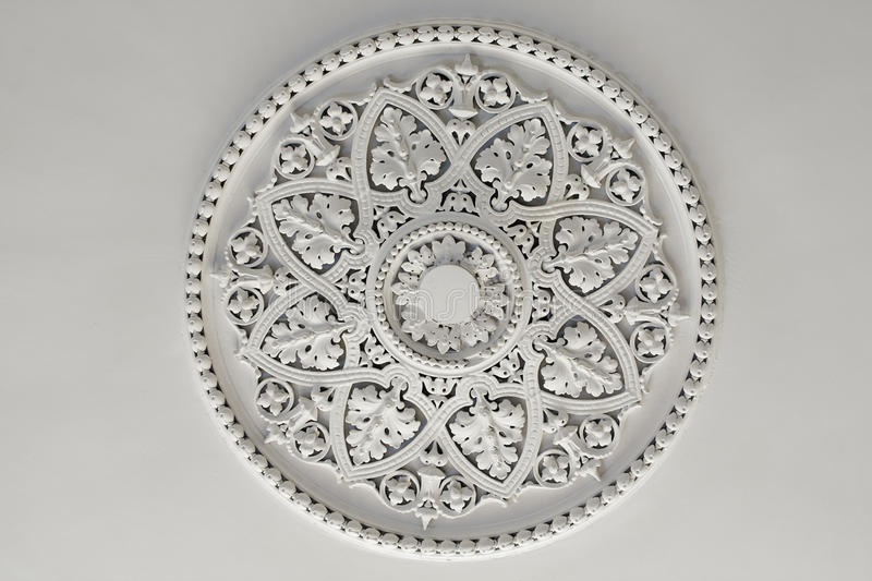 Plaster Ceiling Rose or plate royalty free stock image